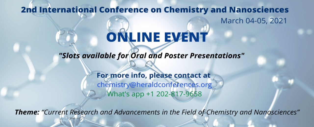 Chemistry and Nanosciences Conference