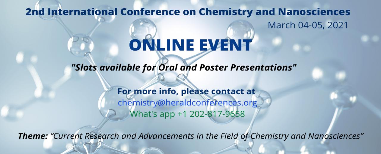 Chemistry and Nanosciences Conference